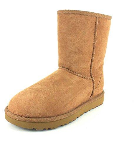 UGG Women's Classic Short II Suede Sheepskin Pull On Boot Chestnut-Chestnut-4 ()