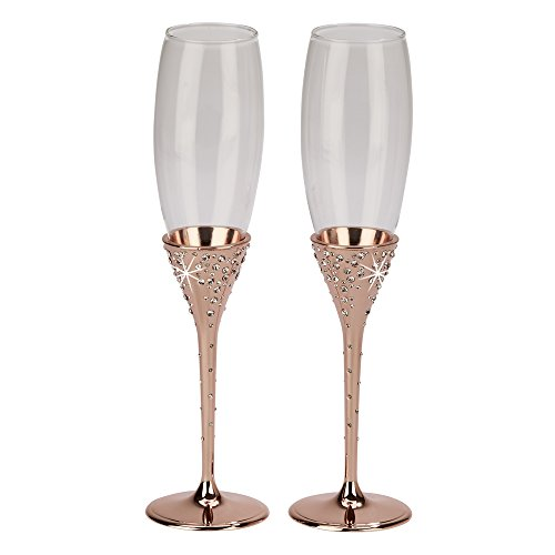 Galaxy Rose Gold Flutes – Set of 2