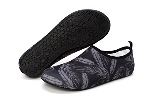 Quick Soft Socks Dry Surf Aqua Women's Feather 006grey Lightweight Men's Swimming Yoga Beach norocos Water Shoes wqYxXnfn
