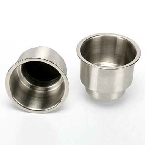 Amarine-made 2pcs Stainless Steel Cup Drink Holder with Drain Marine Boat Rv Camper by Amarine-made (Image #3)