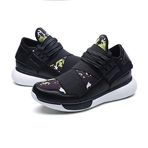 Loafers Homme noir Sneakers Tennis Jogging Légère de vert Tissu Course Compensé Running Basket Voyage Chaussure Sport Mode Basket fXqrfB