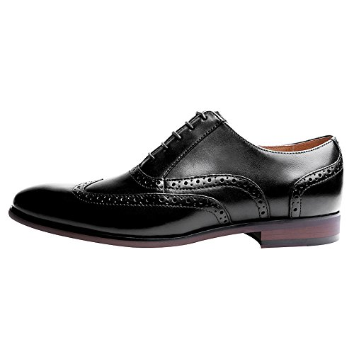 Nero Sera Elegante Uomo Pelle Classico Formale Oxfords Scarpe Jamron Brogue Taglia da Grande Vera OqvCxw4