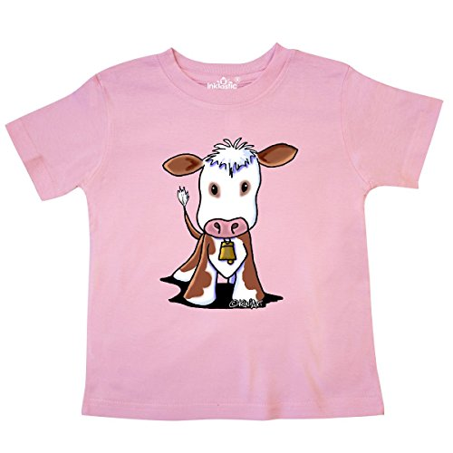inktastic - Little Brown Cow Toddler T-Shirt 2T Pink - KiniArt ()
