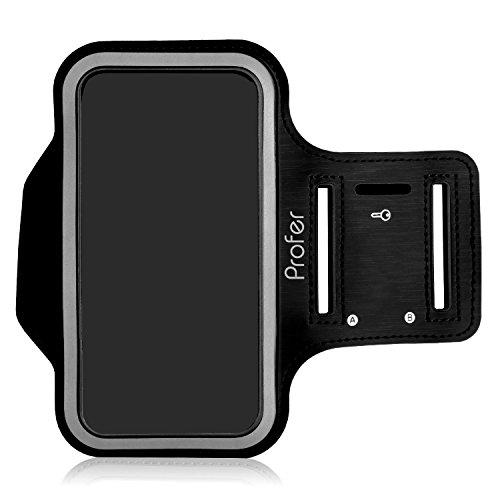 iPhone 7 Armband, Profer Neopren Fit Sportarmband Gürtel Armbänder mit verstellbarer Riemen für iPhone 7 (Armband-schwarz)