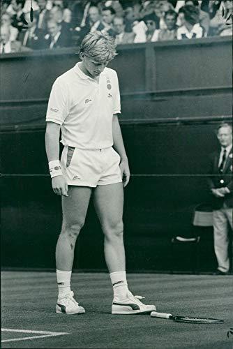 Vintage photo of Boris Becker Tennis player