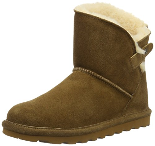 BEARPAW Women Margaery Hickory Brown Boot 6