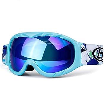 a7c57d87e133 XuBa Children Kids Snow Ski Goggles Anti Fog Double Lens Winter Snowboard  Glasses Goggles Mint Green