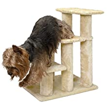 FurHaven Pet Stairs | Steady Paws 3-Step Pet Stairs, Cream