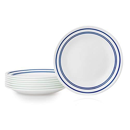 Corelle 1136762 Bread Plates, 8-Piece, Classic Café Blue