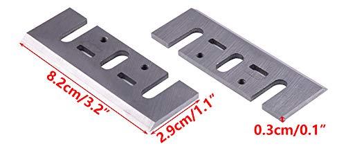 LETAOSK Fit pour Makita 1900B Dewalt Bosch Machine Lames de rabotage HSS 2pcs 3-1//4 82mm