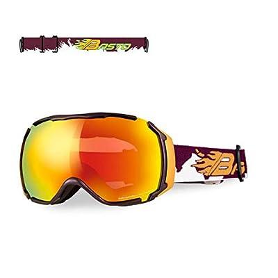He-yanjing Single Double Board ski Glasses Men Women Outdoor Windshield ?Outdoor Mountaineering Goggles