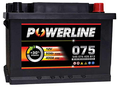 075 Powerline Car Battery 12V: