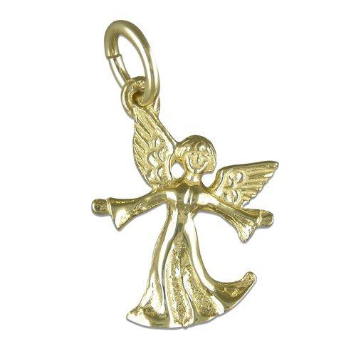 Ange avec ses ailes pendentif-or jaune 9 carats-Links Of London Charm Style charme-bijoux religieux livré dans pochette cadeau