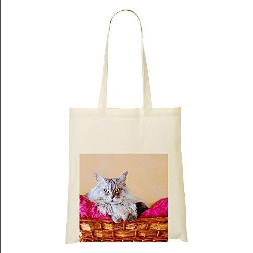 Maine Coon Gato 100% bolsa de algodón (FC) # 9