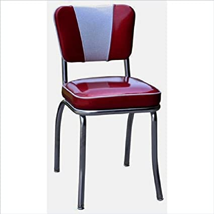 Attrayant Richardson Seating Retro 1950s V Back Diner Chair In Glitter Sparkle Red  And Glitter Silver