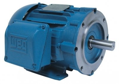 WEG Electric, 01018ET3E215TC-W22, 10HP, 1800RPM, 3PH, 208V;230V;460V, 215TC Frame, C-Face Flange, Foot Mount, TEFC, General Purpose Motor.