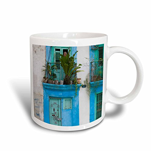 3dRose mug_134318_1 Cuba, Havana, Havana Vieja, Old Havana buildings CA11 WBI0196 Walter Bibikow Ceramic Mug, 11 oz, - Viejas Las Outlets