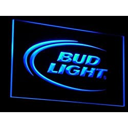 a003 Bud Lite Beer Bar Pub Club Logo LED Neon Sign with On/Off Switch 7 Colors to choose (Blue)