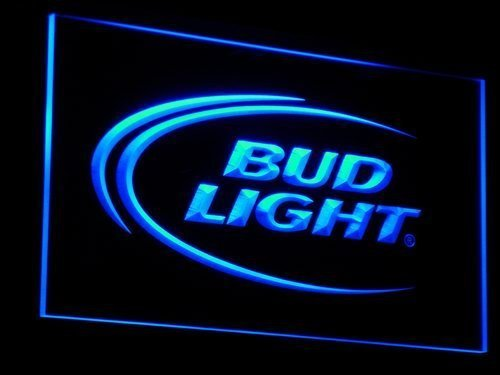 a003 Bud Lite Beer Bar Pub Club Logo LED Neon Sign with On/Off Switch 7 Colors to choose - Light Clock Neon Bud