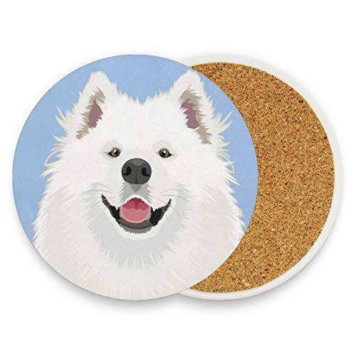 Funny Dog Coasters, Prevent Furniture From Dirty And Scratched, Round Wood Coasters Set Suitable For Kinds Of Mugs And Cups, Living Room Decorations Gift Set Of 4