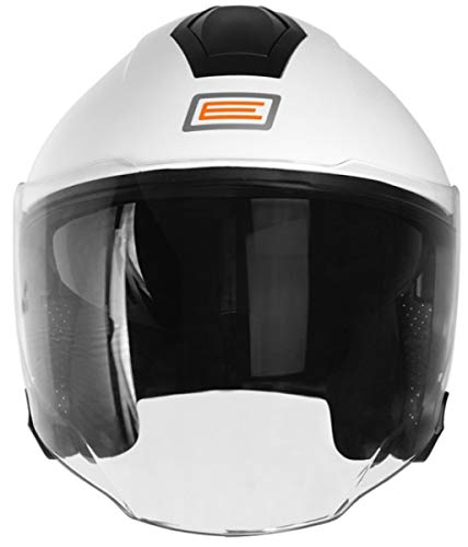 XL, Solid White ORIGINE Casco Jet con Bluetooth Integrato Palio 2.0