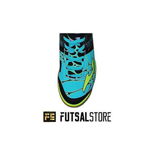 Zapatilla de fútbol sala Joma Evo Flex Turquesa verde,azul,negro,amarillo
