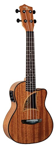 Eddy Finn EF-9-CE Concert Acoustic Electric All Mahogany Ukulele with Herringbone Trim