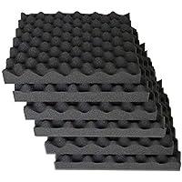 "6 Pack egg crate foam acoustic foam tiles soundproofing foam panels sound insulation soundproof foam padding sound dampening Studio sound proof padding 1.5"" x 12"" x 12"""