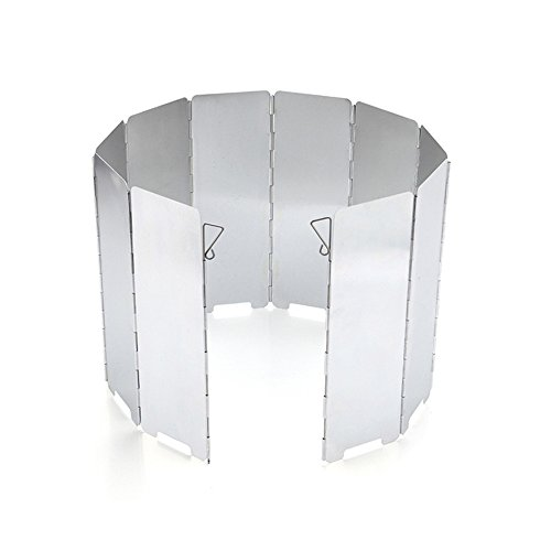 Stove Windscreen for camping, backpacking, Survival, Emergency Preparation-Foldable Aluminum Alloy Wind Deflector-10pcs (Camping Stove Windbreaker compare prices)