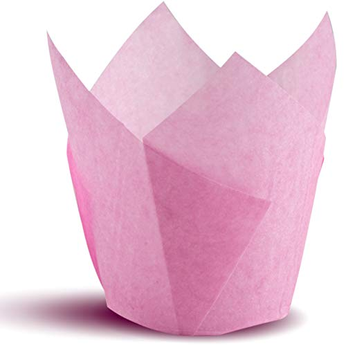 (Tulip Cupcake Liners, Natural Baking Cups for Standard Size Cupcakes and Muffins Liners (300, Pink))