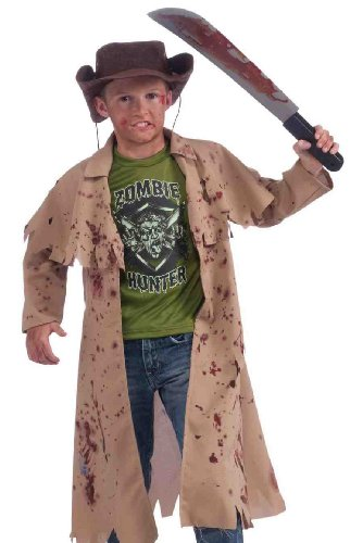 Zombie+Costumes Products : Zombie Hunter Complete Costume Kit, Child's Medium