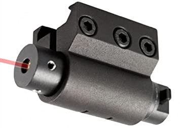 Amazon.com : 1 X Compact Pistol Gun Picattiny Rail Red Laser Sight ...