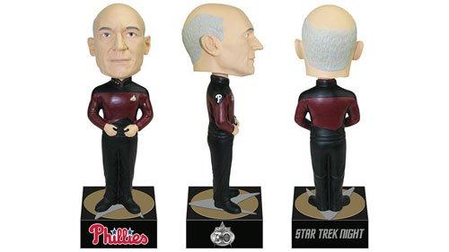 NEW IN BOX! 2017 Star Trek Captain Picard Bobblehead 9/26/17 Citizens Bank Park Exclusive Citizens Bank Exclusive