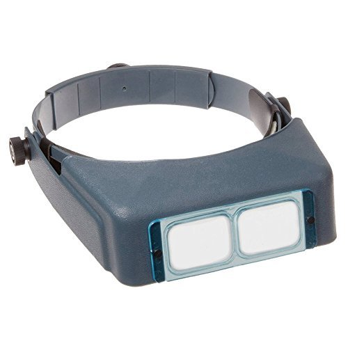 (GXG-1987 Headband Magnifier Optical Binocular Glass Lenses Visor Magnifier with 4 Levels Power Magnification Lens for Jewelry Making, Watch Making, Needlework, Electronic Inspection, Reading)