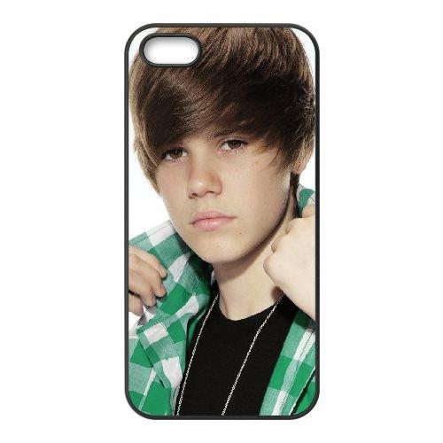 Justin B 004 coque iPhone 5 5S cellulaire cas coque de téléphone cas téléphone cellulaire noir couvercle EOKXLLNCD24988