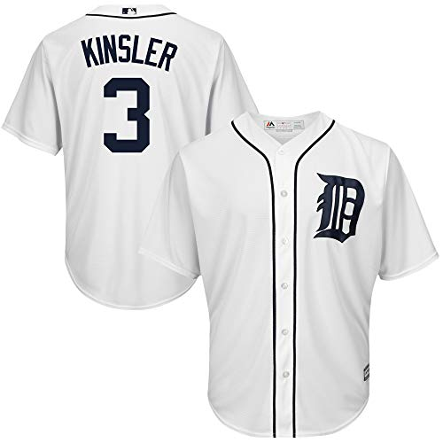 Ian Kinsler Detroit Tigers White Youth Cool Base Home Replica Jersey (Large - Jersey White Detroit Tigers