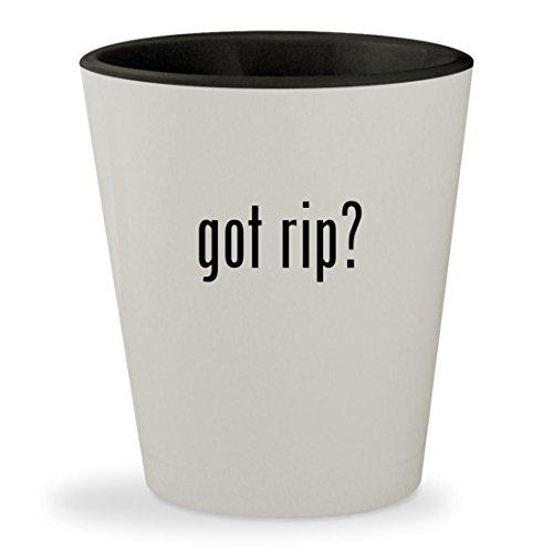 got rip? - White Outer & Black Inner Ceramic 1.5oz Shot Glass