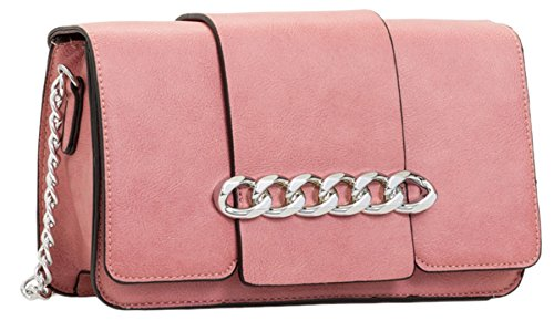 Pink Chain Bag HandBags Girly Front Clutch qwETXPTz