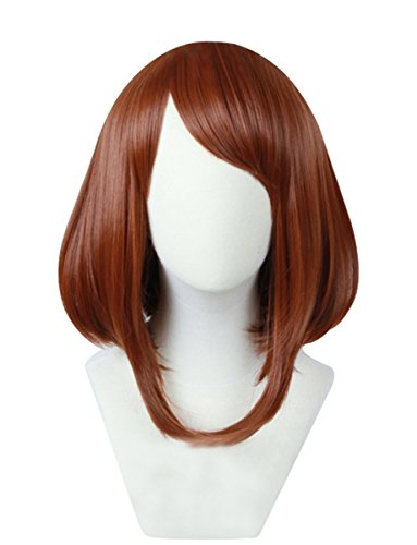 Cfalaicos Women's Red Brown Cosplay Wig