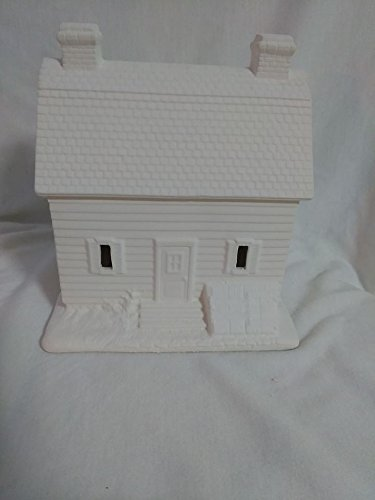 Village Farm House 6'' x 5'' x 6'' ready to paint ceramic bisque