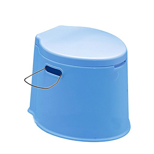 dff0e6ddba3 Denny International  LIGHT WEIGHT  Large 6L Compact Portable Toilet Potty  Loo with Washable Basket and Toilet Roll Holder for Pool Party Camping  Caravan ...