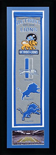 NFL Detroit Lions Legends Never Die Team Heritage Banner with Photo, Team Colors, 15