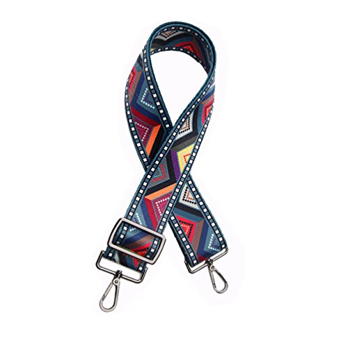 Women Girls 5.0cm Wide Purse Strap Replacement Fashion Style Multicolor Canvas 75cm-135cm Crossbody Strap for Handbags by OPOO