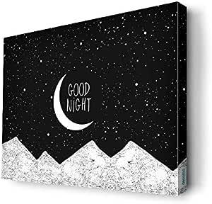 good night Wall Canvas by Decalac,40x 30cm - 19032