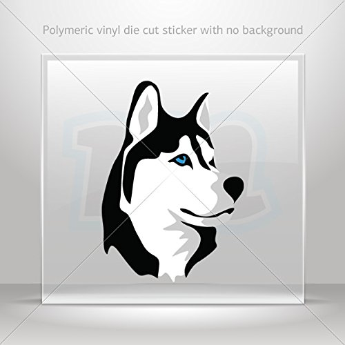 Alive Husky (Decal Sticker Husky Dog Decoration Waterproof Racing Vehicle Tablet La (7 X 4.94 Inches))