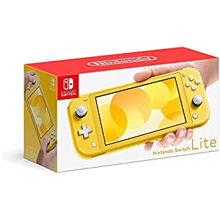Newest Nintendo Switch Lite Game Console, Yellow with 128GB AllyFlex Micro SD Card