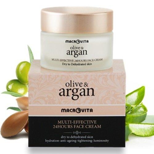 Macrovita Multi Effective Face Cream 24hour Dry Skin Olive & Argan. ()