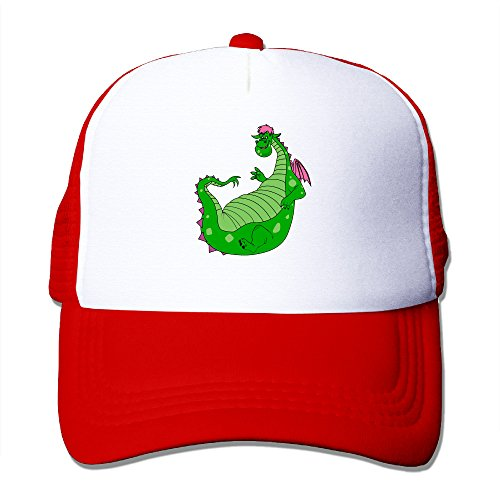 Elnory Pete's Dragon Cute Adjustable Mesh Hat Red