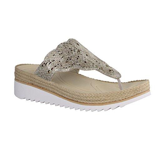 Gabor Womens Spizzy 43.722.81 Sandals Snake Glitter Powder Powder g1dat