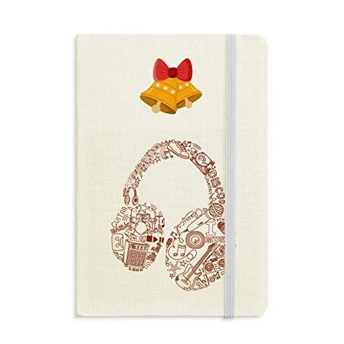 Illustration - Cuaderno de notas con diseño de cascabel navideño